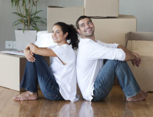 Local Mortgage Lender Couple With Boxes