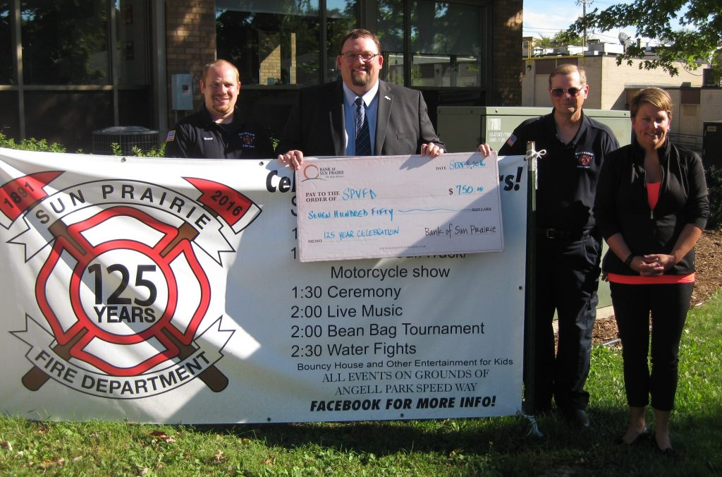 sun prairie fire department donation